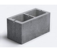 Блок бетонный двухпустотный 390*190*190