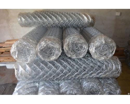 Сетка рабица (стальная) размеры яч. 50x50x1.4мм (1.5x10м)