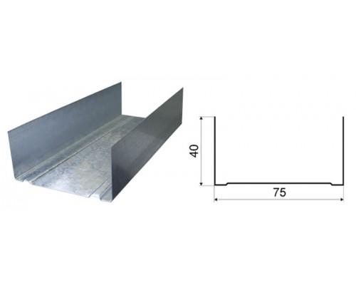 Профиль направляющий ПН 75х40х0.45мм (3м)