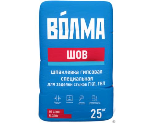 Шпаклевка гипсовая Волма Шов, для заделки стыков, ГКЛ, ГВЛ, 25 кг